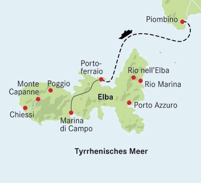 Insel Elba Karte.Wanderreise Insel Elba Busreise Nach Italien Eurobus