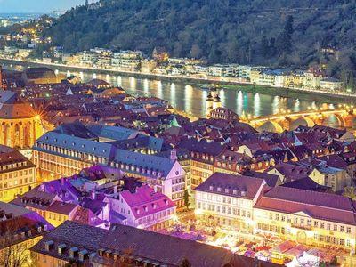 Heidelberg Weihnachtsmarkt.Heidelberg