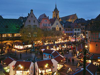 Colmar Weihnachtsmarkt.Tagesausflug Colmar